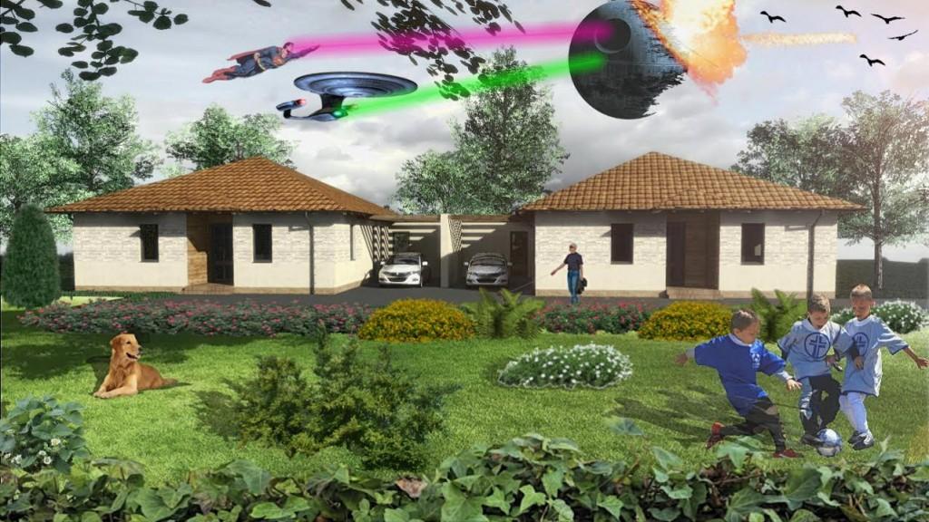 Két lakás egy telken kerttel
