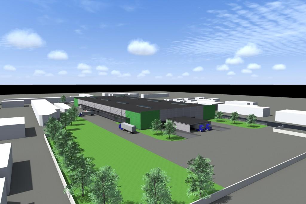 10000 m2-es gyártócsarnok, Győr