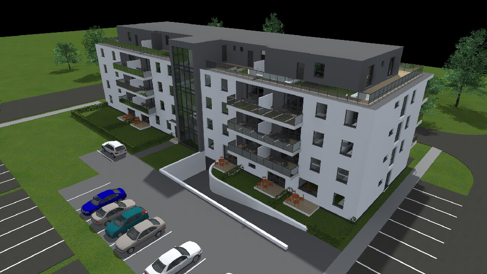 39 lakásos társasház- Győr, Mécs L. utca