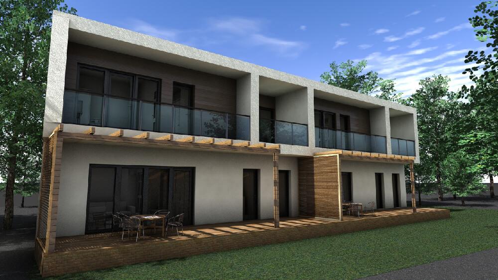 Két lakásos társasház -Abda