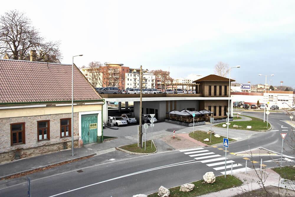 Győr, Benzinkút, étterem