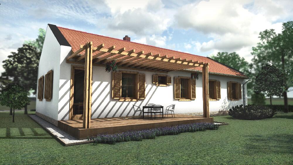 Olcsón megépíthető 100 m2-es típusház